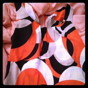 Orange Pattern Blouse